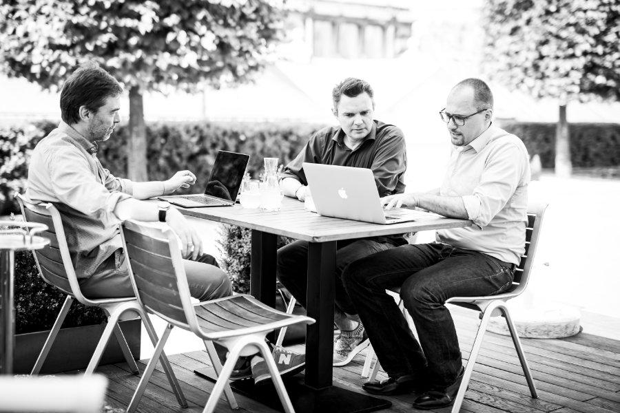 Wolfgang Pones, Jürgen Faè, Hannes Kieberger - das Gründerteam von COMMITLY