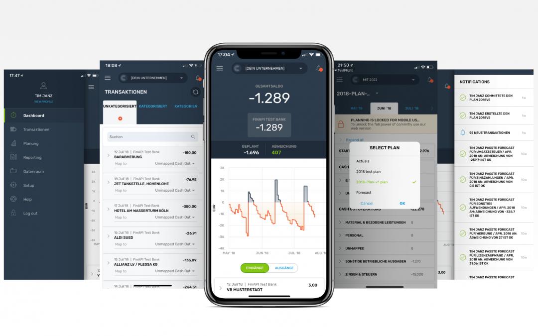 Jetzt alle Cash Flow Informationen immer im Zugriff mit der COMMITLY App