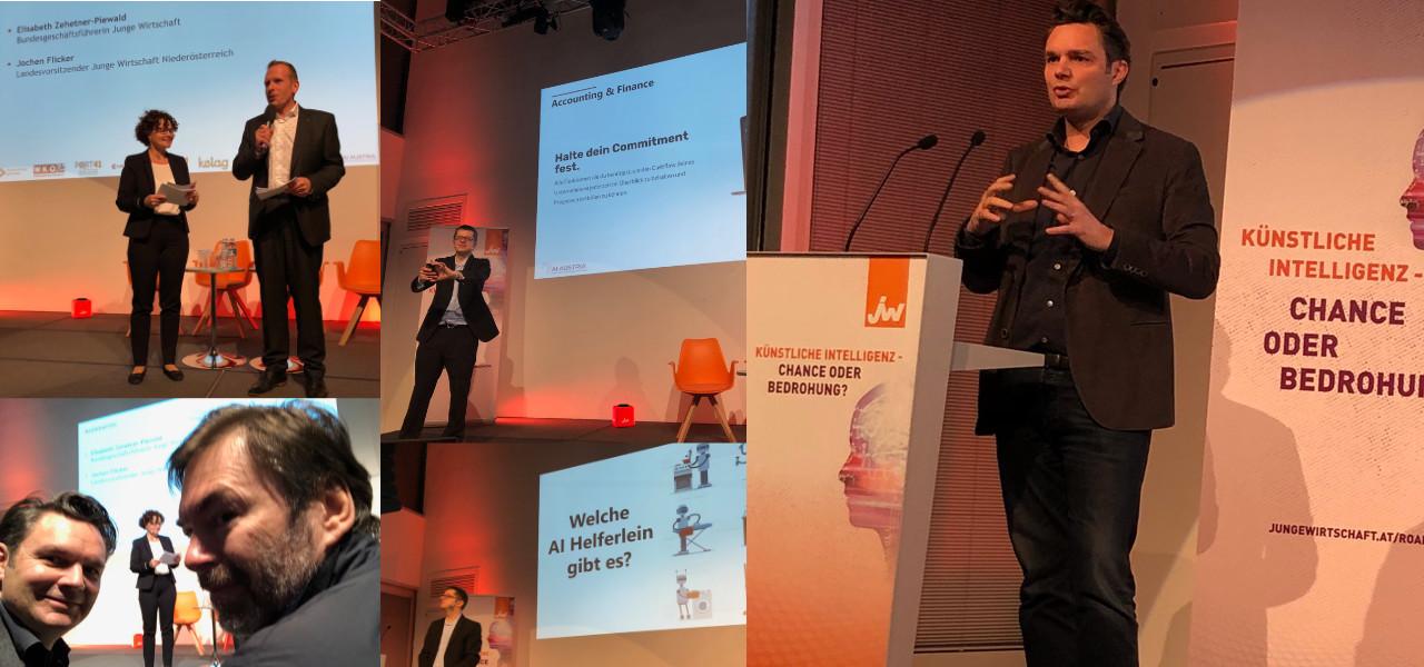 COMMITLY mit Jürgen Faè bei der KI Roadshow der Jungen Wirtschaft