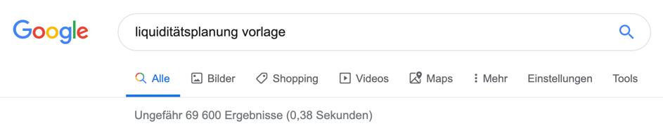 google-liquiditaetsplanung