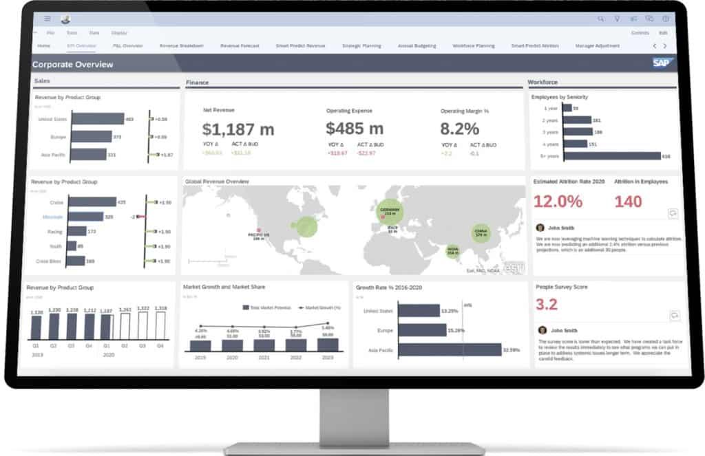 SAP planung screenshot