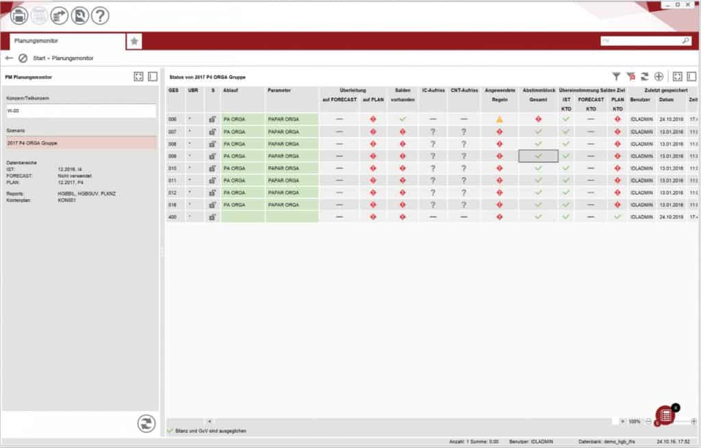 IDL Planung screenshot